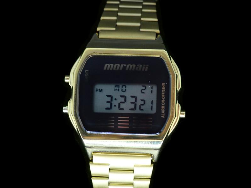 bff5760f095b9 Relógio Mormaii   Relógio Mormaii Feminino Metal Dourado Digital